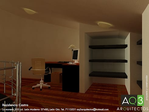 Residencia Castro: Estudio de estilo  por AQ3 Arquitectos