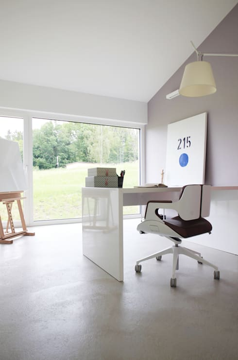 Projekty,  Domowe biuro i gabinet zaprojektowane przez Schiller Architektur BDA