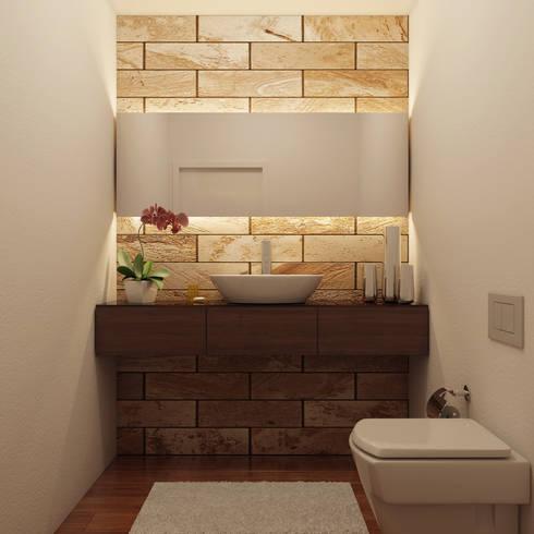 Instalação sanitária de serviço:   por Judite Barbosa Arquitetura