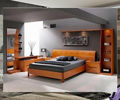 Cor natural da madeira: Quartos modernos por Obr&Lar - Remodelação de Interiores