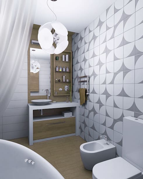 Пентхауз RI: Ванные комнаты в . Автор – ЙОХ architects
