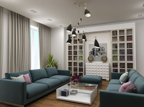 Пентхауз RI: Гостиная в . Автор – ЙОХ architects