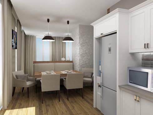 Пентхауз RI: Кухни в . Автор – ЙОХ architects