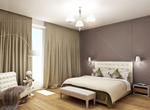 Пентхауз RI: Спальни в . Автор – ЙОХ architects