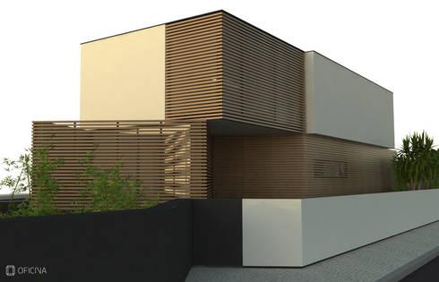 Casa Carvide: Casas modernas por OFICINA - COLECTIVO DE IDEIAS, LDA