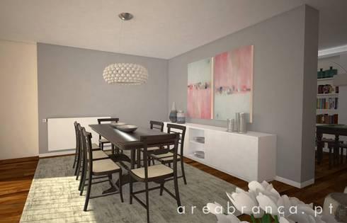 Projeto Sala JM: Salas de jantar modernas por Areabranca
