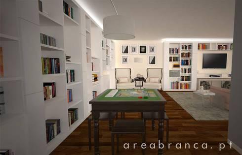 Projeto Sala JM: Salas de estar modernas por Areabranca