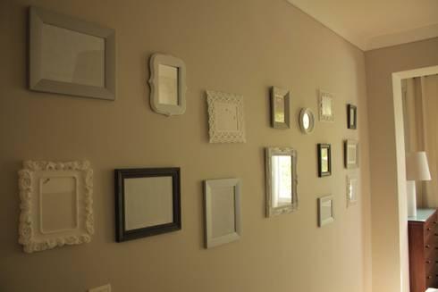 Quarto Duplo - Decoração de parede: Quartos ecléticos por Oficina Rústica (OFR Unipessoal Lda)