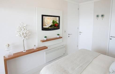 Terraza Pacifico 2 dormitorios: Recámaras de estilo  por VdecoracionesCL