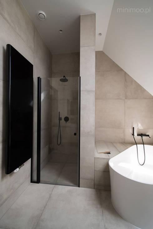www.minimoo.pl: styl , w kategorii Łazienka zaprojektowany przez MINIMOO Architektura Wnętrz