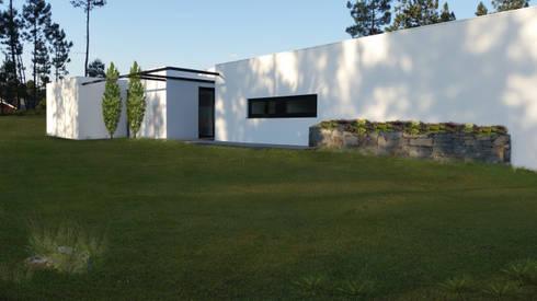 Fachada principal: Casas modernas por Hugo Pereira Arquitetos