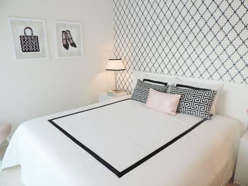Black&White: Quartos modernos por Espaços Únicos - EU InteriorDecor