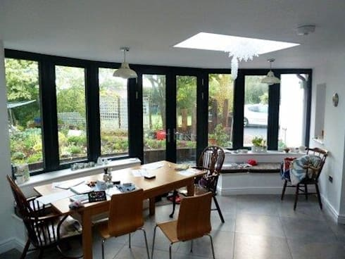 New dining area: modern Dining room by ARB Architecture