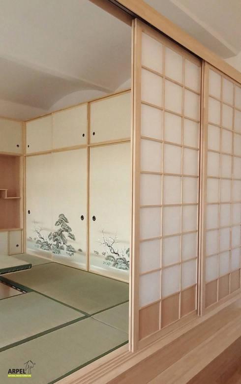 Soggiorno in stile giapponese shoji di arpel homify for Pavimento giapponese