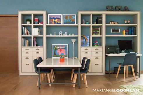 Estudios: Estudios y oficinas de estilo moderno por MARIANGEL COGHLAN