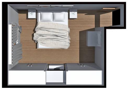 Casa s progetto camera matrimoniale di carla costa homify - Progetto camera da letto ...