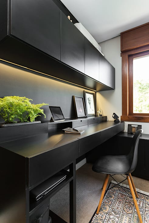 Projekty,  Sypialnia zaprojektowane przez Ateliê 7 arquitetura e design integrados
