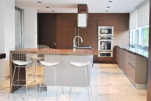 MESA EN ROBLE, SILLAS PEDINI: Cocinas de estilo moderno por ARTE CUCINE/ PEDINI SAN ANGEL