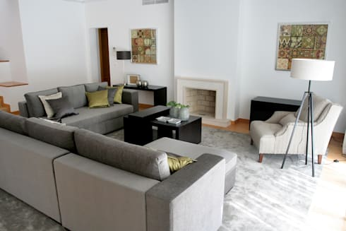 Sala de Estar: Salas de estar modernas por Amber Road - Design + Contract