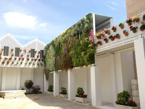 Jard n vertical en antiguas bodega mora de terapia urbana for Bodegas de jardin chile