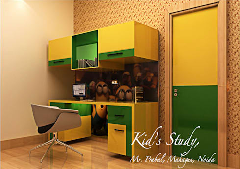 Residential Images: modern Nursery/kid's room by Dzine Route