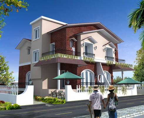 Villa in Goa:   by CREATIVE ARCHITECTURE & DESIGN