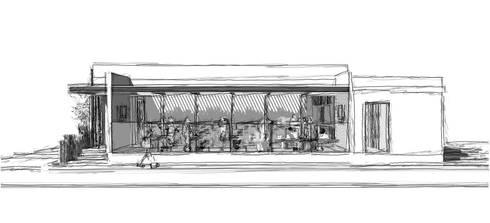 100% natural: Restaurantes de estilo  por CCA|arquitectos