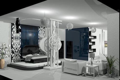 Bedroom: eclectic Bedroom by EdgeHomes Architects