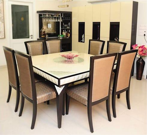 RESIDENTIAL: modern Dining room by QBOID DESIGN HOUSE