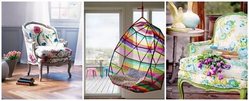 كراسي ملونة ستعطي بيتك حيوية وإشراقة بالتأكيد:  المنزل تنفيذ D.G