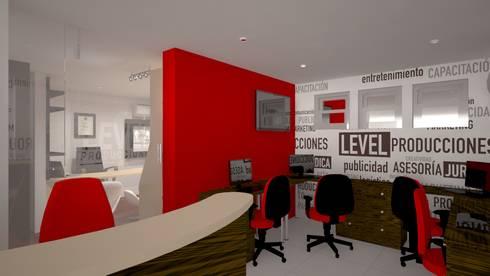 Zona de ejecutivos: Oficinas y Tiendas de estilo  por Ivan Gomez Arquitecto
