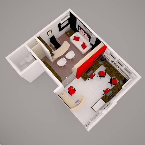 Perspectiva: Oficinas y Tiendas de estilo  por Ivan Gomez Arquitecto