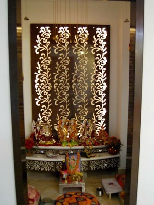 Interior design by the silversea homify for Design of mandir in living room