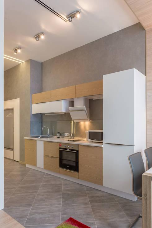 Проект квартиры в современном стиле: Кухни в . Автор – Bellarte interior studio