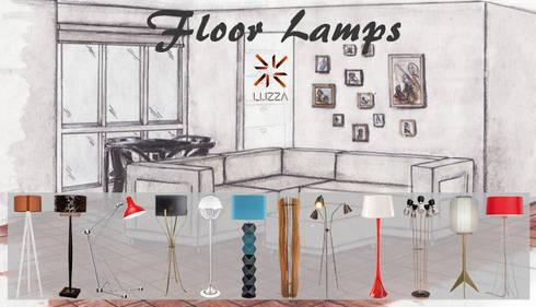 Floor lamps: Casa  por LUZZA by AIPI - Portuguese Lighting Association