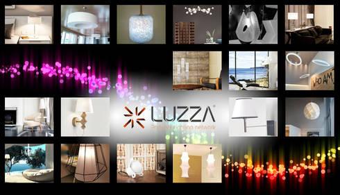 White lamps: Casa  por LUZZA by AIPI - Portuguese Lighting Association