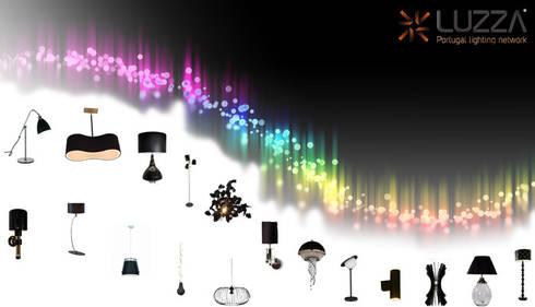 Black lamps: Casa  por LUZZA by AIPI - Portuguese Lighting Association