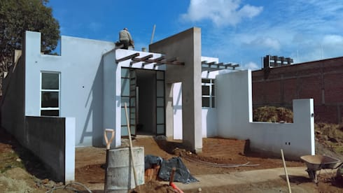 FACHADA : Casas de estilo moderno por GNG ARQUITECTURA Y DISEÑO