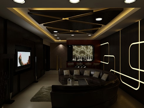 Home Theater : modern Media room by The Brick Studio