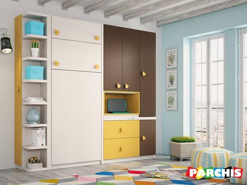 Muebles juveniles abatibles con camas o literas abatibles - Habitaciones juveniles camas abatibles horizontales ...
