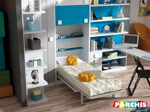 Muebles juveniles abatibles con camas o literas abatibles for Muebles parchis