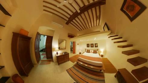Bed Room : colonial Bedroom by Karpita Virtual Reality Studio