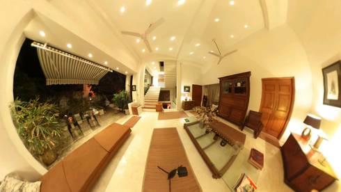 POOL SIDE SEATING: colonial Pool by Karpita Virtual Reality Studio