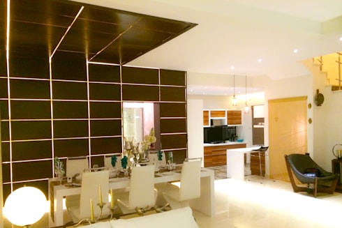 BLUE-JAY: modern Dining room by Rubenius Interiors