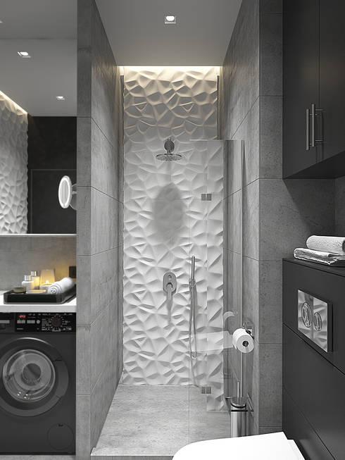 квартира в ЖК Квартал 918: Ванные комнаты в . Автор – Y.F.architects