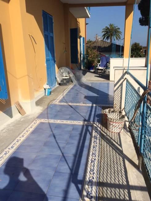 Progetto e realizzazione della nuova pavimentazione del terrazzo di ...
