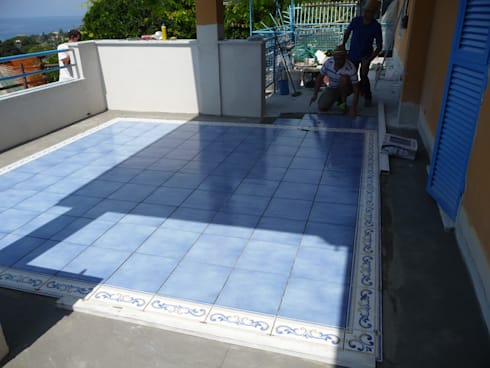 Progetto e realizzazione della nuova pavimentazione del terrazzo ...