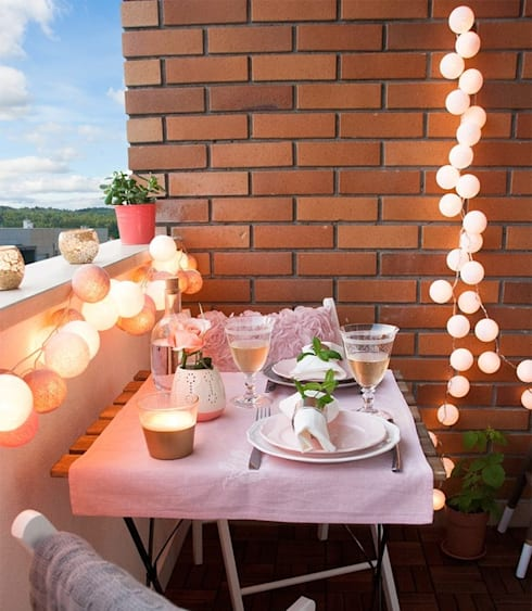 Arredamento ed illuminazione di balconi e terrazze di COBO   homify