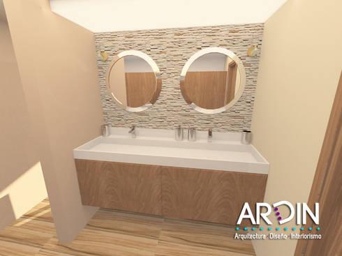BAÑO PRINCIPAL: Baños de estilo  por ARDIN INTERIORISMO