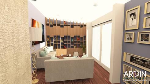 SALA: Salas de estilo industrial por ARDIN INTERIORISMO